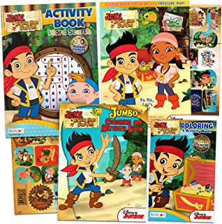 Disney Jake and The Neverland Pirates Coloring and Activity Book Set - 4 Jake Pirates Books with Games, Puzzles, Coloring,...