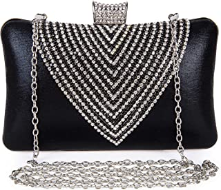 Clocolor Evening Bags and Clutches for Women Rhinestone Crystal Clutch Purse Wedding Bridal Handbag Party Bag