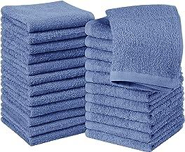 Utopia Towels Cotton Electric Blue Washcloths Set - Pack of 24-100% Ring Spun Cotton, Premium Quality Flannel Face Cloths,...