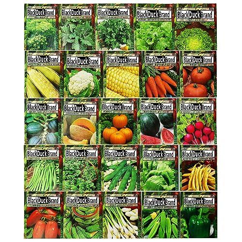 25 VEGETABLE Variety Survival Seed Organic Heirloom  Kitchen Garden  Seeds Bank