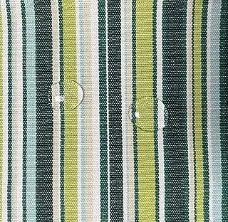 Byour3® Tela al metro de tela impermeable de tela para toldos de sol, cojines, balancín al metro, porche, balcón, lonas laterales, cenador, caravana, toldo de barco (verde multilínea, ancho 160 cm)