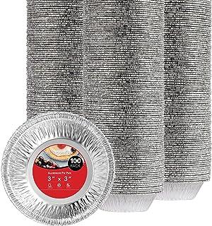 Stock Your Home 3 Inch Aluminum Foil Pie Pans (100 Count) - Disposable & Recyclable Mini Pie Pans - Foil Pie Tin for Baker...
