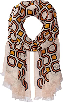 Tory Burch - Octagon Linen Oblong Scarf