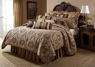 Michael Amini 13 Piece Lucerne Comforter Set, King, Brown/Beige/Gold