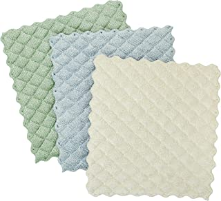 Envision Home Kitchen Dish Cleaning Cloths, 3 Pack, Sage, Blue, Cream