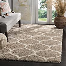 Safavieh Hudson Shag Collection SGH280S Beige and Ivory Moroccan Ogee Plush Area Rug (9' x 12')