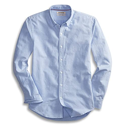 2e31b0162b0 Goodthreads Men s Slim-Fit Long-Sleeve Solid Oxford Shirt