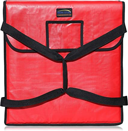 New Star 50097 Insulated Pizza Delivery Bag, 20 by 20 by 5-Inch, Red