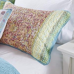 Barefoot Bungalow Palisades Pillow Sham, King, Pastel