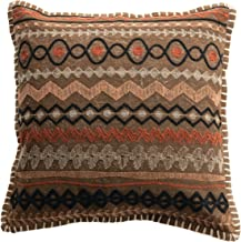 Bloomingville Multi Color Square Cotton Embroidery Pillow