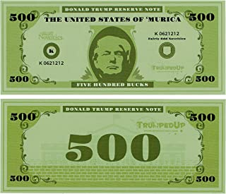 Fairly Odd Novelties Donald Trump Reserve $500 Note Fake Money Full Color Prop Money (100 Bills)