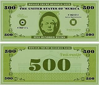 Fairly Odd Novelties Donald Trump Reserve $500 Note Fake Money Full Color Prop Money (100 Bills)