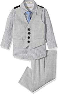 Kenneth Cole Baby Boys 4-Piece Formal Vest Set