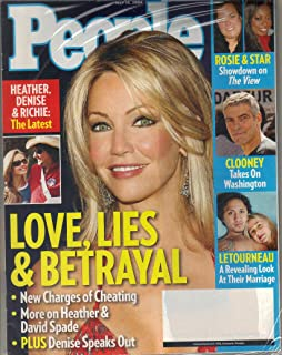 People - Magazine Back Issue - May 15, 2006 - Heather Locklear, Denise Richards and Richie Sanbora; George Clooney; Letourneau; Rosie and Star