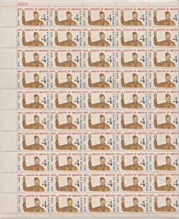 Boy Scouts Jubilee Complete Sheet of Fifty 4 Cent Stamps Scott 1145