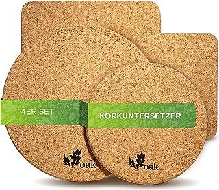 12 Stück Korkuntersetzer Topfuntersetzer Kork Pfannen Untersetzer Ø 17,5 cm Kork