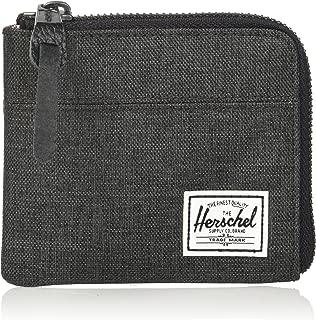 Herschel Supply Co. Unisex-Adult's Johnny RFID Wallet, black crosshatch, One Size