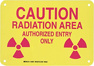 Brady 42857 Aluminum Radiation & Laser Sign, 7