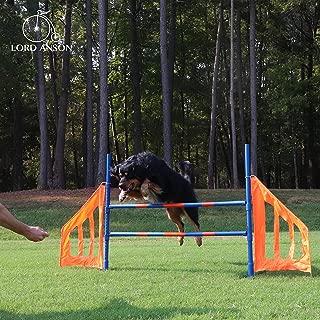 Lord Anson Dog Agility Jump Set - Canine Agility Training Set - Competition Grade Adjustable Agility Jump - Dog Agility Equipment Set - Obedience, Agility, and Rehabilitation