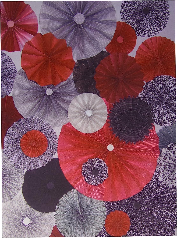 KESS InHouse Heidi Jennings Kyoto  Red Black Feeding Mat for Pet Bowl, 18 by 13Inch