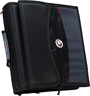 Case-it 2-Inch O-Ring Zipper Binder with Removable Tab File, Black