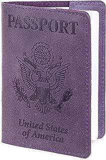 Leather Passport Cover - Passport Holder - Passport Case for Men & Women