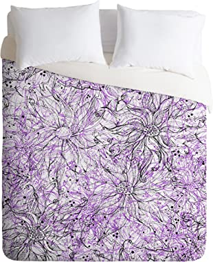 Deny Designs Lisa Argyropoulos Angelica Purple Duvet Cover, Twin/Twin XL
