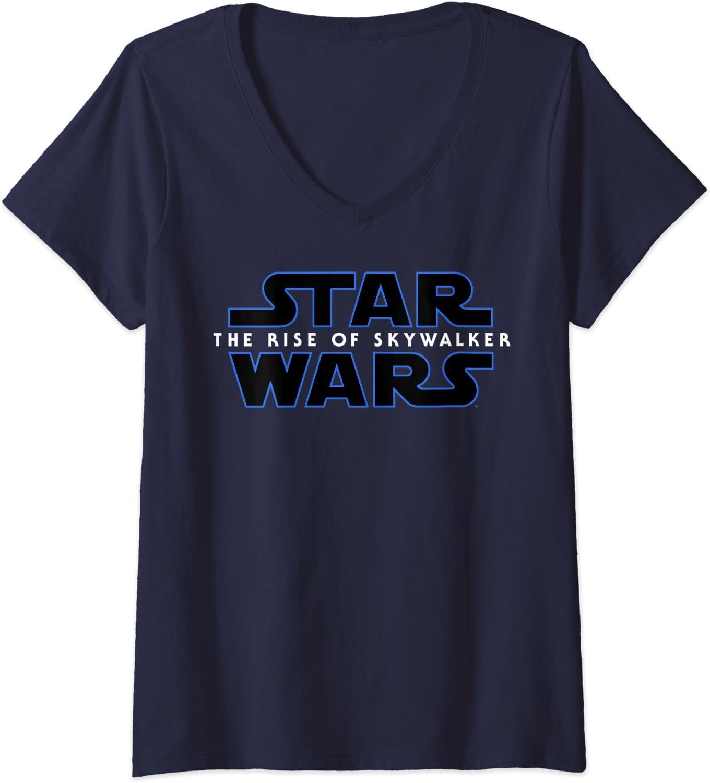 Womens Star Wars The Rise Of Skywalker Movie Logo C2 V-Neck T-Shirt