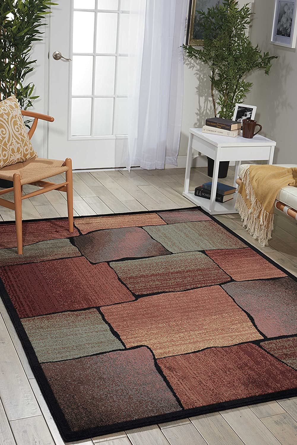 Nourison Expressions Multicolor Rectangle Area Popular popular Rug Super beauty product restock quality top 3-Feet 6-Inc