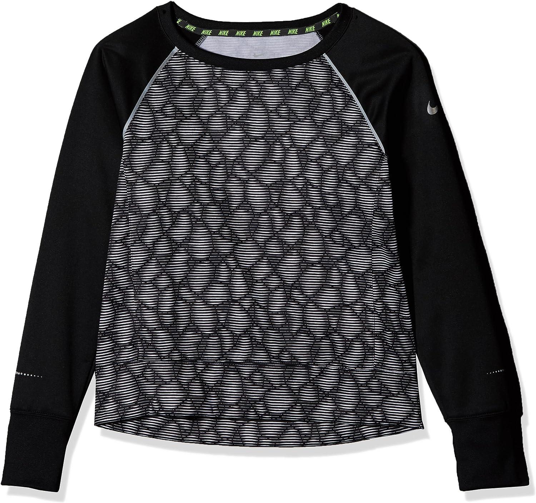 Nike Epic Flash Crew Fleece New life Black Shirt Training White Max 68% OFF Girls