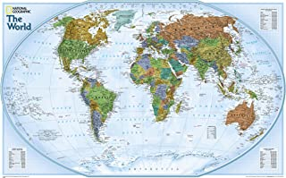 World Explorer, Satellite [Folded] (National Geographic Map) (Reference - World)