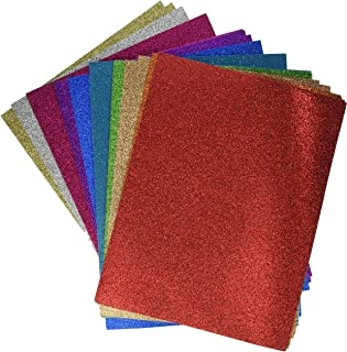 Darice Glitter Cardstock Paper Pack, Heavyweight 40 sheets Pack, 10 assorted colors