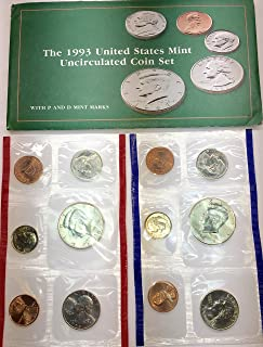 1993 P D US Mint set 10 Pieces comes in US mint Packaging Half Dollar, Quarter, Dime, Nickel, Penny Brilliant Uncirculated US Mint