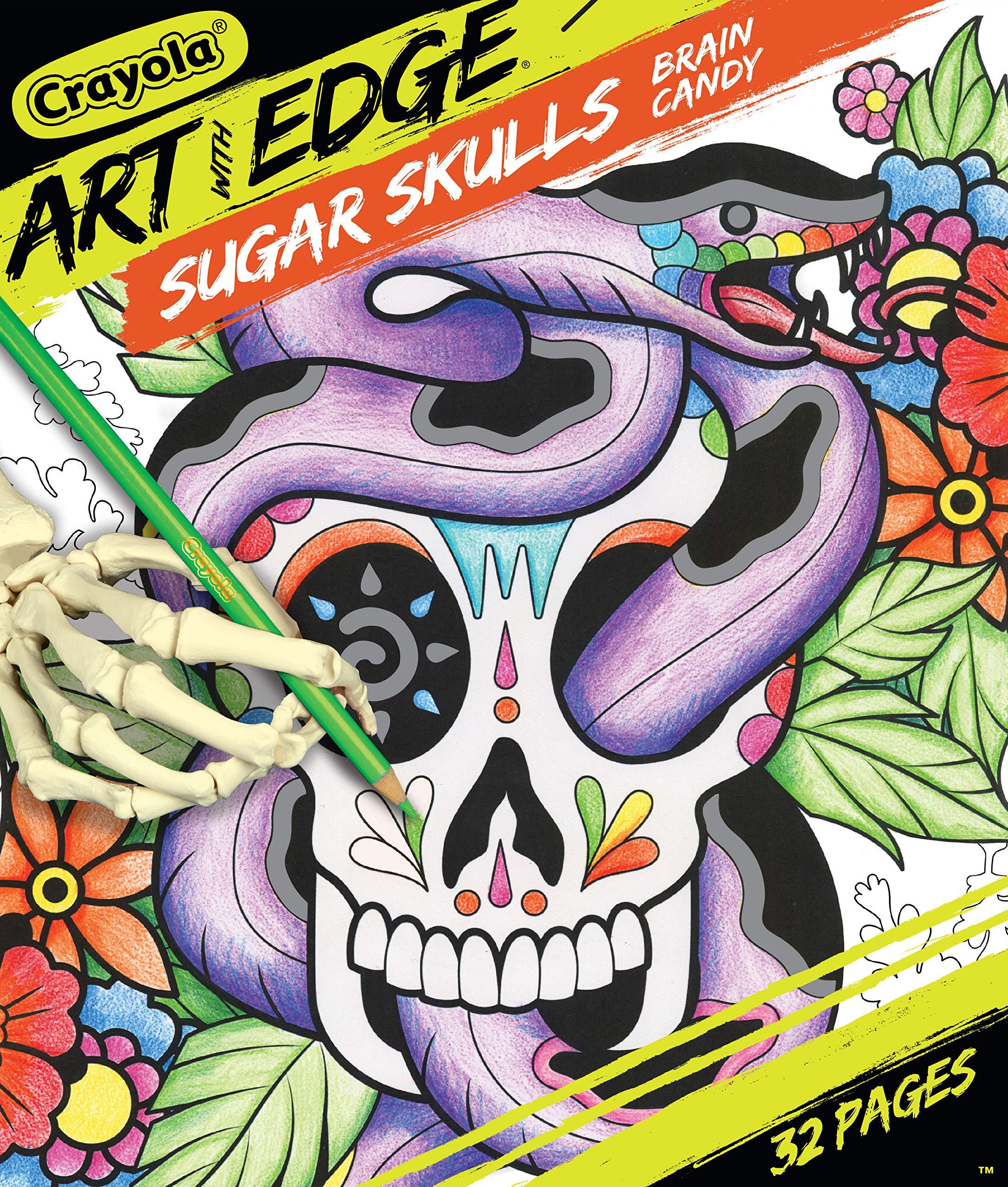 - Amazon.com: Crayola Sugar Skulls Coloring Book, Volume 3, Teen