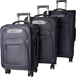 Dejuno Executive 3-Piece Spinner Luggage Set with USB Port, Navy