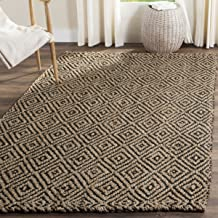 Safavieh Natural Fiber Collection NF181C Hand Woven Natural and Black Jute Area Rug (8' x 10')