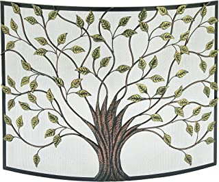 Deco 79 Lovely Traditional Metal Fire Screen, 33