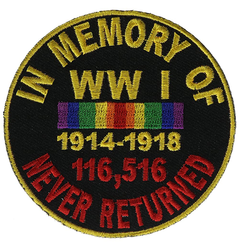 WWI In Memory of Never Returned Biker Patch 3 inch IVANP4867