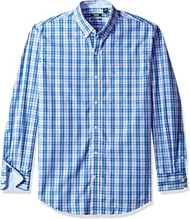 Men's Premium Performance Natural Stretch Plaid Long Sleeve Shirt