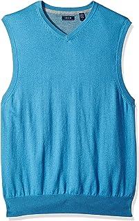 IZOD Men's Soft Fine Gauge V-Neck Solid Sweater Vest