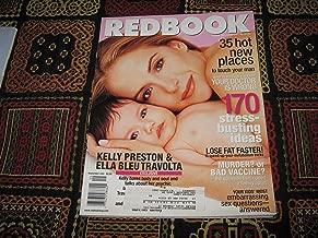 Redbook Magazine (Kelly Preston & Ella Bleu Travolta , 35 New Hot Places to touch your man , 170 Stress Busting Ideas, Volume 195 #3)