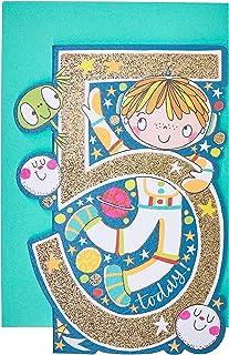 Rachel Ellen REDAR25 Little Darlings Age 5 Boy/Spaceman Birthday Card
