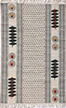 Royal Rug Gallery Cotton Durry/Durrie/Rug 4X6 ft Multi Color 1 Pc