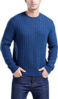Men's Crewneck Cableknit Lambswool Blend Sweater