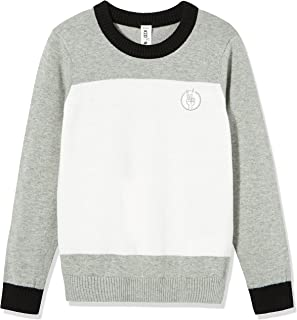 Kid Nation Kids' Sweater Long Sleeve Crew Neck Pullover Color Blocked Cotton Knit Sweater for Boys or Girls
