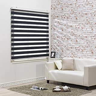 Custom Cut to Size , [Winsharp Blackout Nova , Charcoal , W 59 x H 64 (Inch)] Roller Blackout Fabric Shade Horizontal Window Blinds & Treatments , Maximum 91 Inch Wide by 103 Inch Long