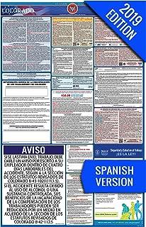 2019 Colorado (Spanish) Labor Law Poster – State, Federal, OSHA Compliant – Single Laminated Poster