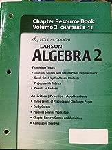 Holt McDougal Larson Algebra 2: Chapter Resource Book, Volume 2