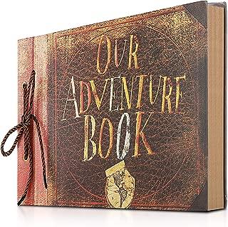 Gotideal Photo Album Scrapbook, DIY Handmade Album Photo Book Our Adventure Book Scrapbook Movie Up Travel Scrapbook for Anniversary, Wedding, Travelling, Friend, Memory with Stickers
