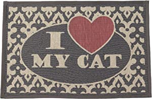 PetRageous I Love My Cat Tapestry Mat Feeder, 13 x 19/Small